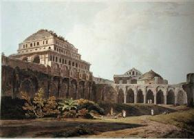 Part of the Palace, Madura, plate XIII from 'Oriental Scenery'