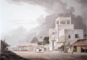 View on the Chitpore Road, Calcutta, plate II from 'Oriental Scenery'