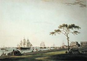 View Taken on the Esplanade, Calcutta, plate I from 'Oriental Scenery'