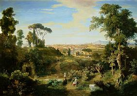 Look at Rome in the countryside of the Campagna