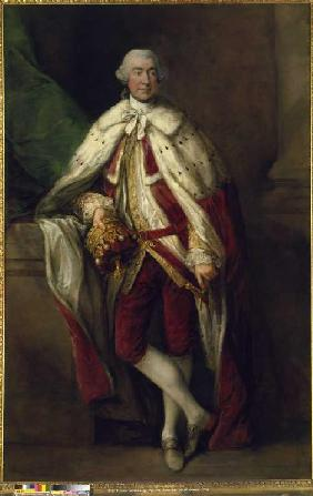 Portrait James, 8th Earl of Abercorn, in the evening gown of a Scottish Peer