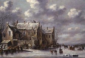 Winter Scene with View at Medemblik