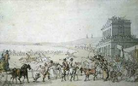 Brighton Races, 1816 (pen, w/c & pencil on