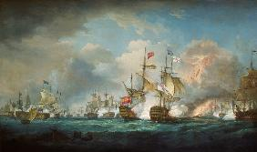 Whitcombe, Thomas : The naval battle of Trafal...