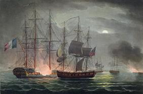 Capture of La Desiree, July 7th 1800, from 'The Naval Achievements of Great Britain' by James Jenkin