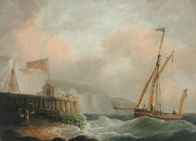 Whitcombe, Thomas : Cutter Entering Harbour
