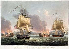 Sir J. T. Duckworth's Action off St. Domingo, February 6th 1806, engraved by Thomas Sutherland for J
