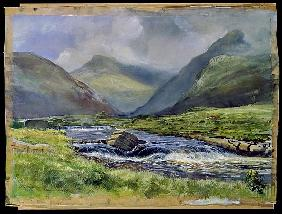 Bundorragha River, Kings and Rock Pools, Co. Mayo, Ireland, 1997 (w/c on paper)