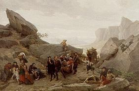 The flight of the residents of Vaud during the massacre of Meridol and Cabrieres