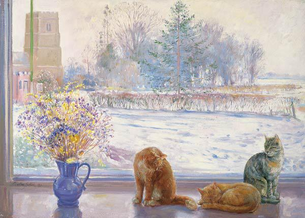 Winter Prospect with Cats