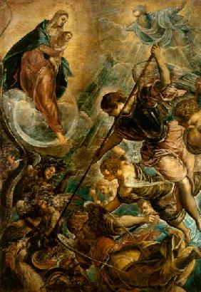 Fight of the archangel of Michael with the Satan