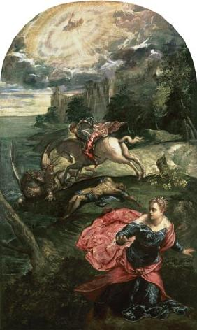 Tintoretto (eigentl. Jacopo Robusti) : Piece of Georg and the dra...