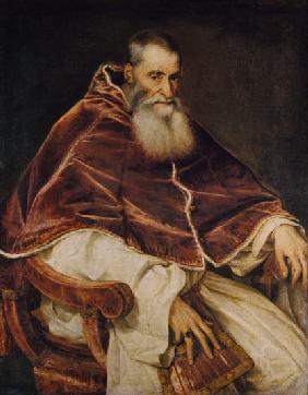 Pope Paul III without a Cap