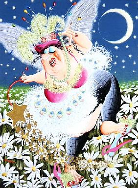 Beryl the Fairy weaves her magic spell as she dances through fields of daisies, 2007 (acrylic on pan