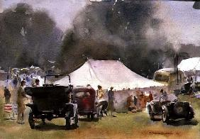 Vintage Motor Rally, 1991 (w/c on paper)
