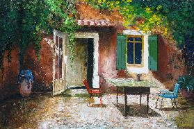 French Patio, 2006 (oil on board)