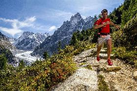 Kilian Jornet training above Montenvers