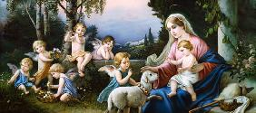 Mary with the Child, Sheep and Puttoi in an idealized Landscape