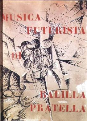 Design for the cover of 'Musica Futurista' by Francesco Balilla Pratella (1880-1955)