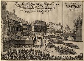 Execution of 27 Protestant Leaders on the Old Town Square in Prague on June 21, 1621