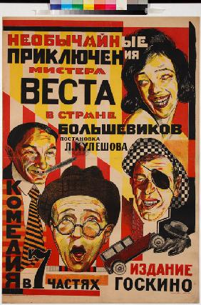 Movie poster The Extraordinary Adventures of Mr. West in the Land of the Bolsheviks