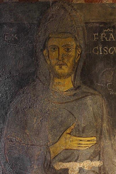 Saint Francis of Assisi (Detail of his oldest portrait)