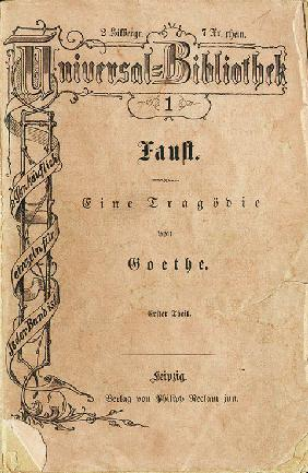 "Goethe's ""Faust I"", the first volume of Reclam's Universal Library, appeared on November 10, 1867"