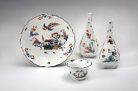 "Porcelain with Kakiemon designs from the time of Augustus the Strong: ""Red Dragon"" and ""Yellow Lion"""