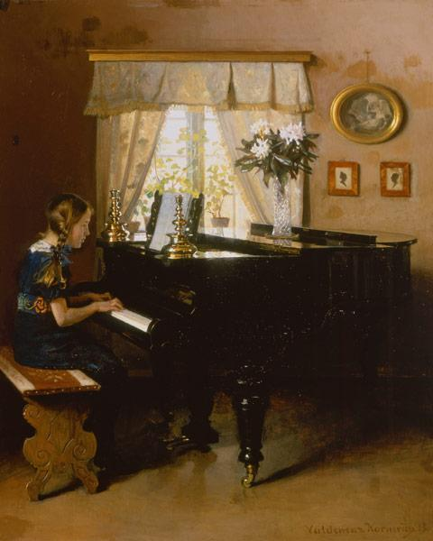 Kornerup, Valdemar Vincent : The piano lesson