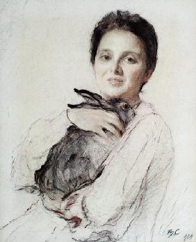 Portrait of Kleopatra Obninskaya with a Hare
