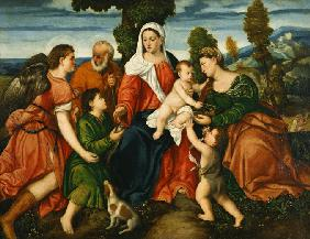 The Holy Family with Tobias and the Angel, Saint Dorothy, John the Baptist and the Miracle of the Co