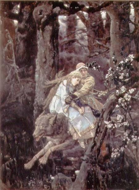 Image: victor mikhailovich vasnetsov - prince ivan on the grey wolf