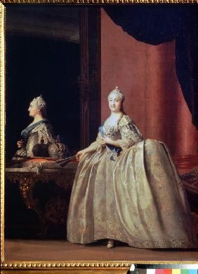 Empress Catherine II before the mirror