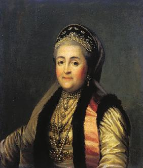 Portrait of Empress Catherine II (1729-1796) in kokoshnik
