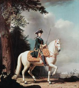 Equestrian Portrait of Empress Catherine II (1729-1796)