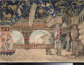 Stage design for the opera Snow Maiden by N. Rimsky-Korsakov