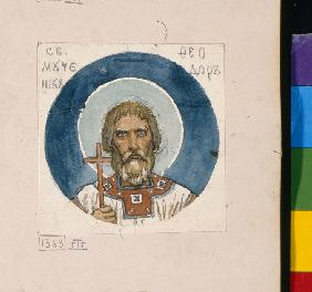 Saint Theodore the Varangian (Study for frescos in the St Vladimir's Cathedral of Kiev)