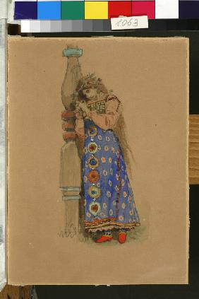 "Kupava. Costume design for the opera ""Snow Maiden"" by N. Rimsky-Korsakov"