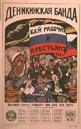 Poster satirising political power in Russia from The Russian Revolutionary Poster by V. Polonski