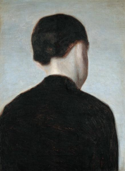 Seated Figure, Seen from Behind