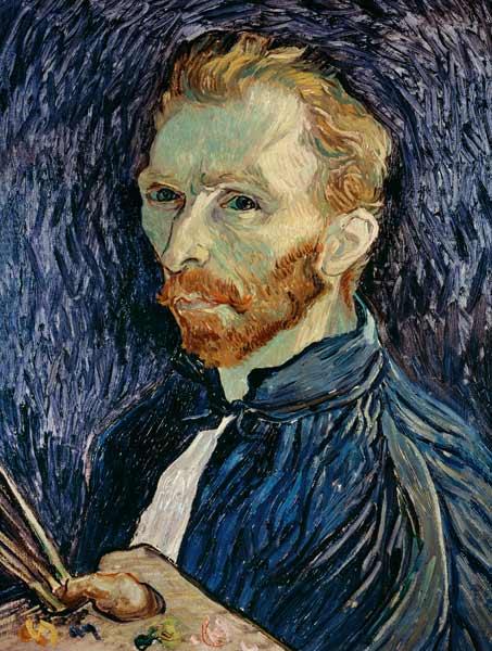 Self Portrait With Pallet Vincent Van Gogh As Art Print
