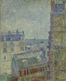 View of Paris from Theo's apartment in the rue Lepic