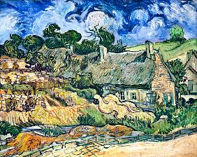 van Gogh, Vincent : Thatched cottages at Corde...