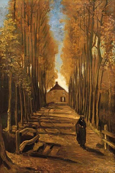 van Gogh, Vincent : Poplar avenue in autumn