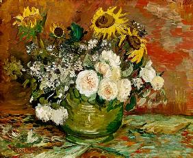 van Gogh, Vincent : Sunflowers, Roses and othe...