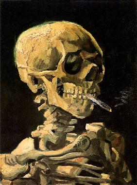 van Gogh, Vincent : Skull with Burning Cigaret...