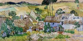 van Gogh, Vincent : Thatched houses in front o...