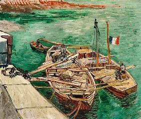 van Gogh, Vincent : Landing Stage with Boats