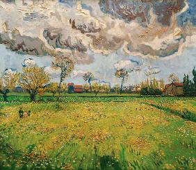 V.van Gogh, Meadow (Arles) /Paint./1889