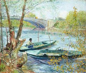 van Gogh, Vincent : Fishing in the Spring, Pon...
